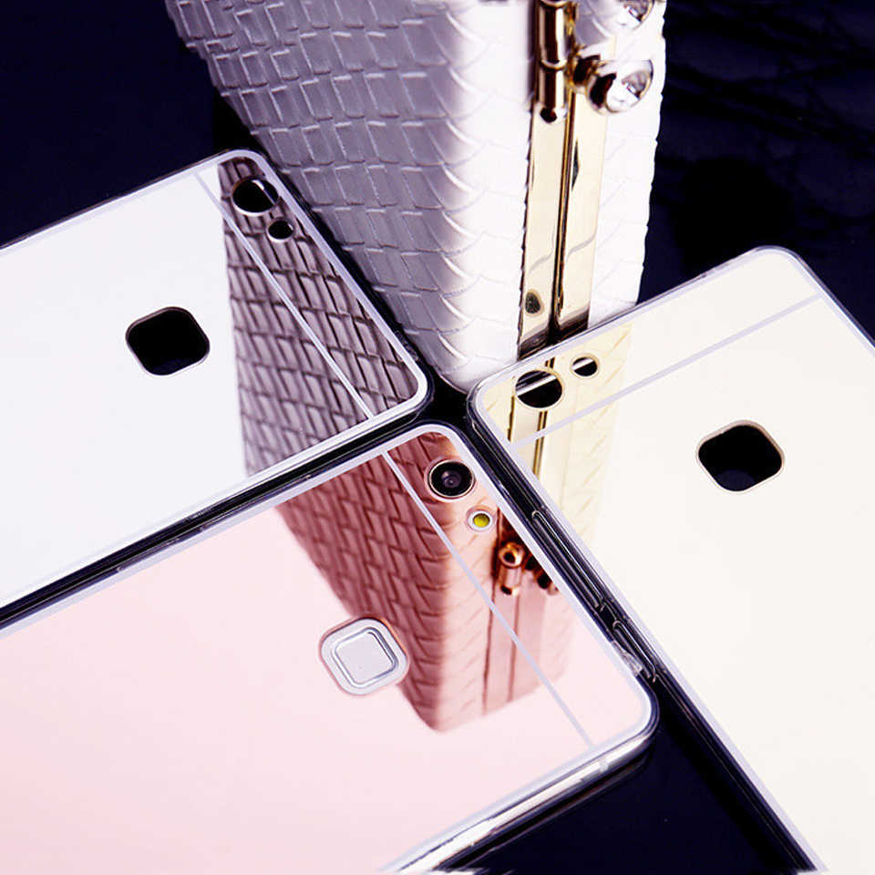 Mirror TPU Case For Huawei P10 Lite P20 P30 Pro Mate 20 10 Nova 3 4 Honor 9 8 8X Y6 Prime Y7 Y9 2018 Play P Smart Shining Cover