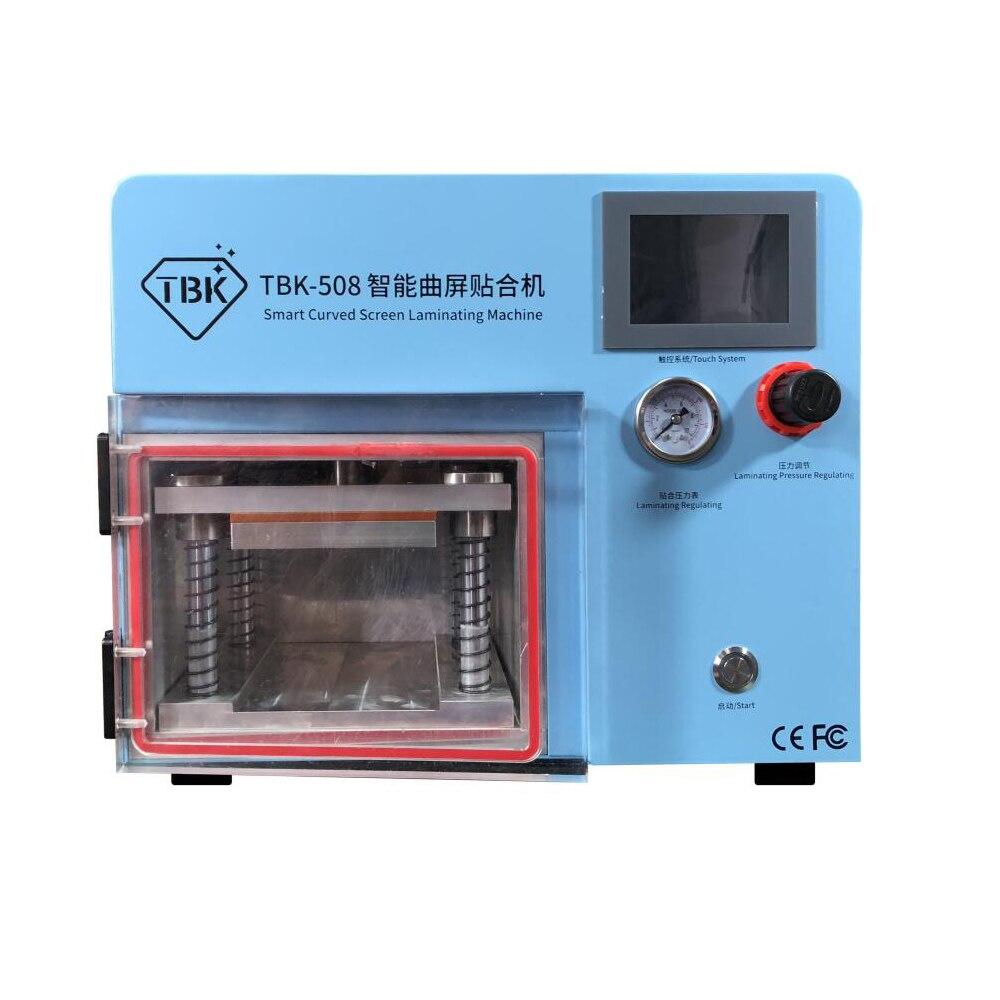TBK-508 изогнутые Экран ламинирования и машина для устранения пузырения ЖК-дисплей край ламинаторы для samcung S6 S7 S8 край Экран с формочками