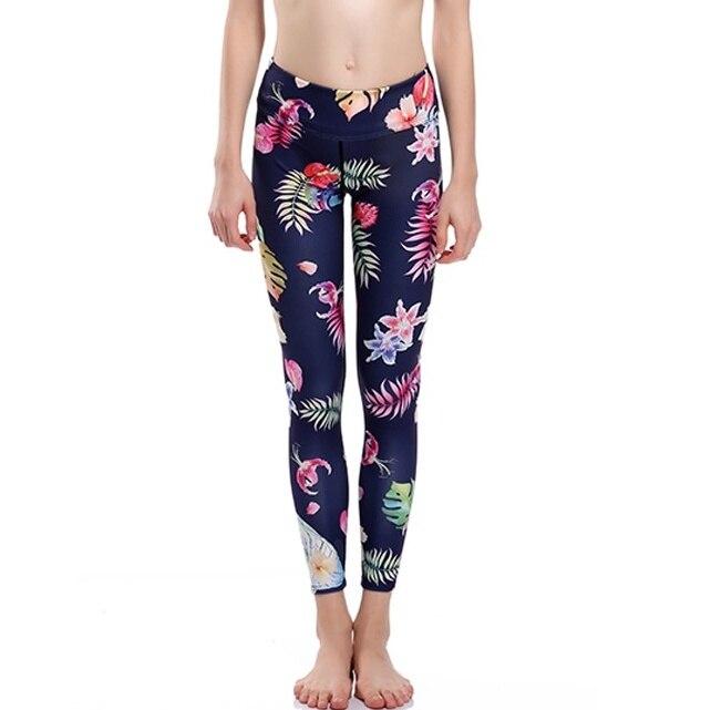 4e332f8b742eb New Arrival Sexy Women Slim Flower Yoga Pants Leggings High Elastic