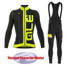 Pro Team Winter Bike Race Men Cycling Jersey Thermal Fleece Cycling Clothing Long Sleeve Sets Bicycle