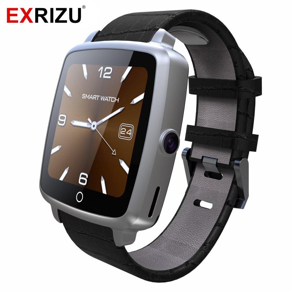 U11C GSM Nano Sim карты TF кожаный браслет Bluetooth Смарт часы здоровья Шагомер сна фитнес трекер для телефона для мужчин женщин