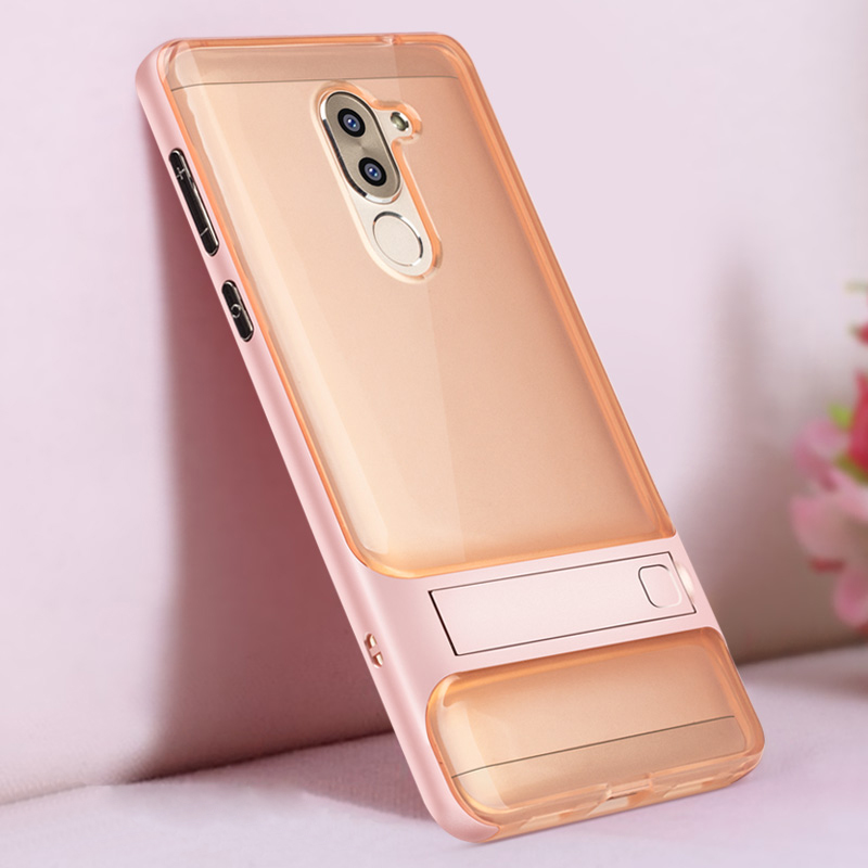 sports shoes c56a4 4c3f6 Back Cover For Huawei Honor 6X Hybrid Case 5.5 TPU PC 360 3D Kickstand  Silicone Phone Case Funda For Huawei GR5 Mate 9 Lite
