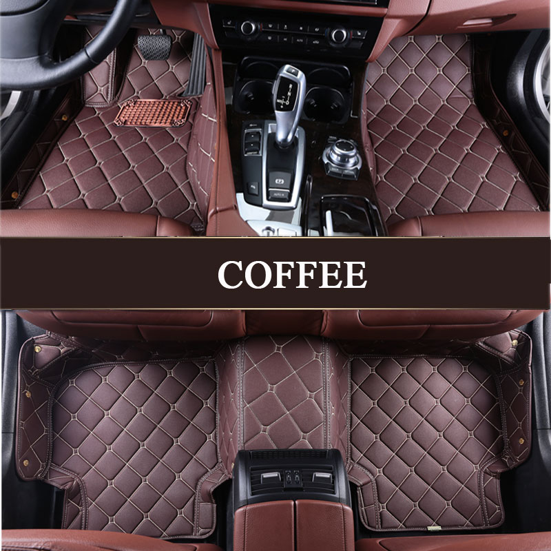 Custom fit car floor mats for Audi A1 A3 A4 A6 A7 A8 Q3 Q5 Q7 TT TTS R8 RS5 RS6 RS7 3D car styling leather carpet floor liners