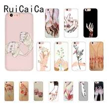 RuiCaiCa Bleeding hand art pattern Luxury Unique Design Phone Cover For iPhone8 7 6 6S Plus X XSMAX 5 5S SE XR 11 11pro 11promax(China)