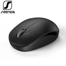 SeenDa Silent Wireless Mouse Computer Mouse 2.4Ghz 1600 DPI Ergonomic Noiseless Mause Portable Mini USB Mouse for Laptop PC
