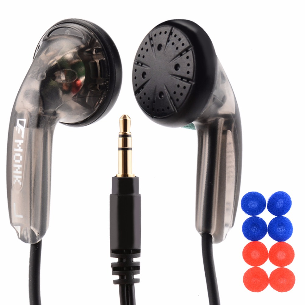 New VE MONK HiFi Headphones Flat head Super Bass Headset with Microphone stereo earphone noise cancelling earphones + ear caps genuine xiaomi hybrid earphone auricolariin ear hifi headset microphone pro multi unit circle iron headphones mobile earphones