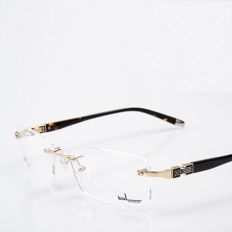 vazrobe rimless glasses frame men clear eyeglasses frames for male prescription spectacles custom make myopia