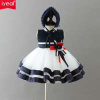 IYEAL Newest High end Newborn Christmas Dresses Baby Girl Birthday Wedding Party Clothes Princess Infant Ball Gown Party Dress