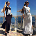 New Summer Women Sexy Boho Long Maxi Beach Dresses Slim Bodycon Fashion Dress Sundress