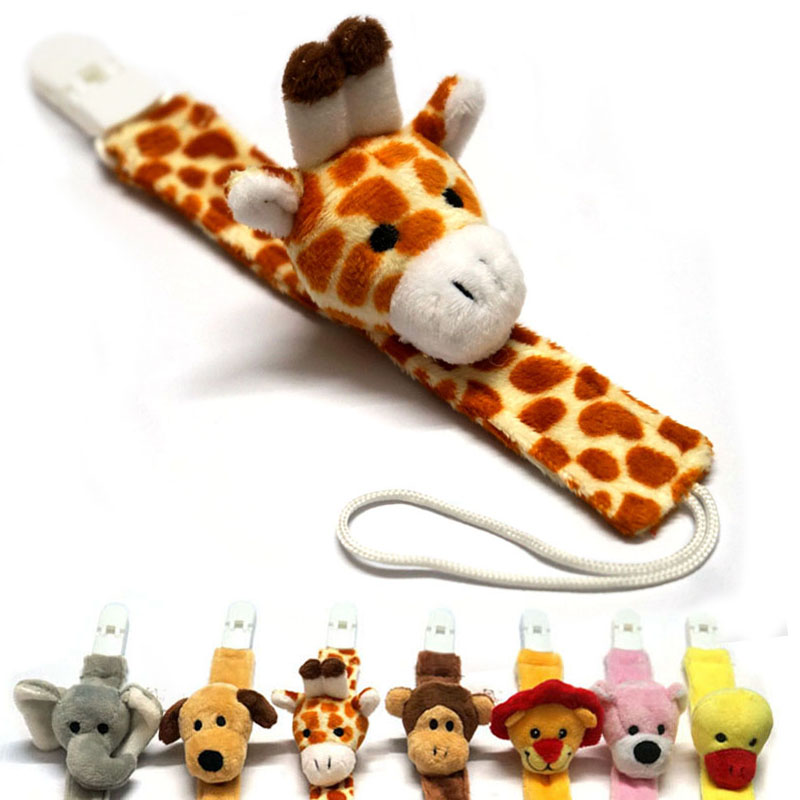 Cute Plush Baby Pacifier Holder Nipple Chain BabyTeether Chain Toy Dummy  Holder Chain Pacifier Clip Pacifier Chain B0736