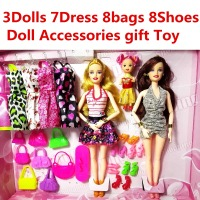 New Fashion Barbie Doll Set Big Gift Star Action Figure Models Cute DIY Toys For Girls