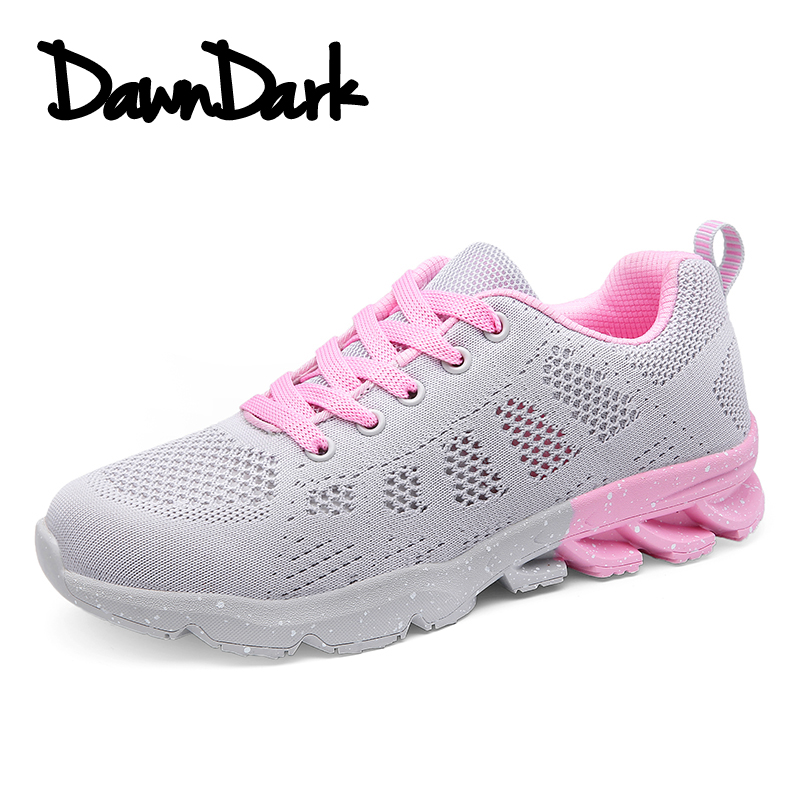 Running Shoes for Women Lace Up Mesh Sneakers Ladies Krasovki Sport Gumshoe Trainers Summer Women Athletic Walking Shoes