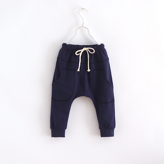 MRJMSL Hot selling 2019 Boys pants Kids Spring Autum Clothes children pants for baby boys trousers girls harem pants 90~130