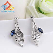 New Fashion BohBrand Flower Leaves Drop Earrings Ethnic Statement Dangle Earrings Pendientes Mujer Moda 2018 umode brand new design fashion charm long earrings female zircon big dangle drop earrings for women pendientes mujer moda ue0222