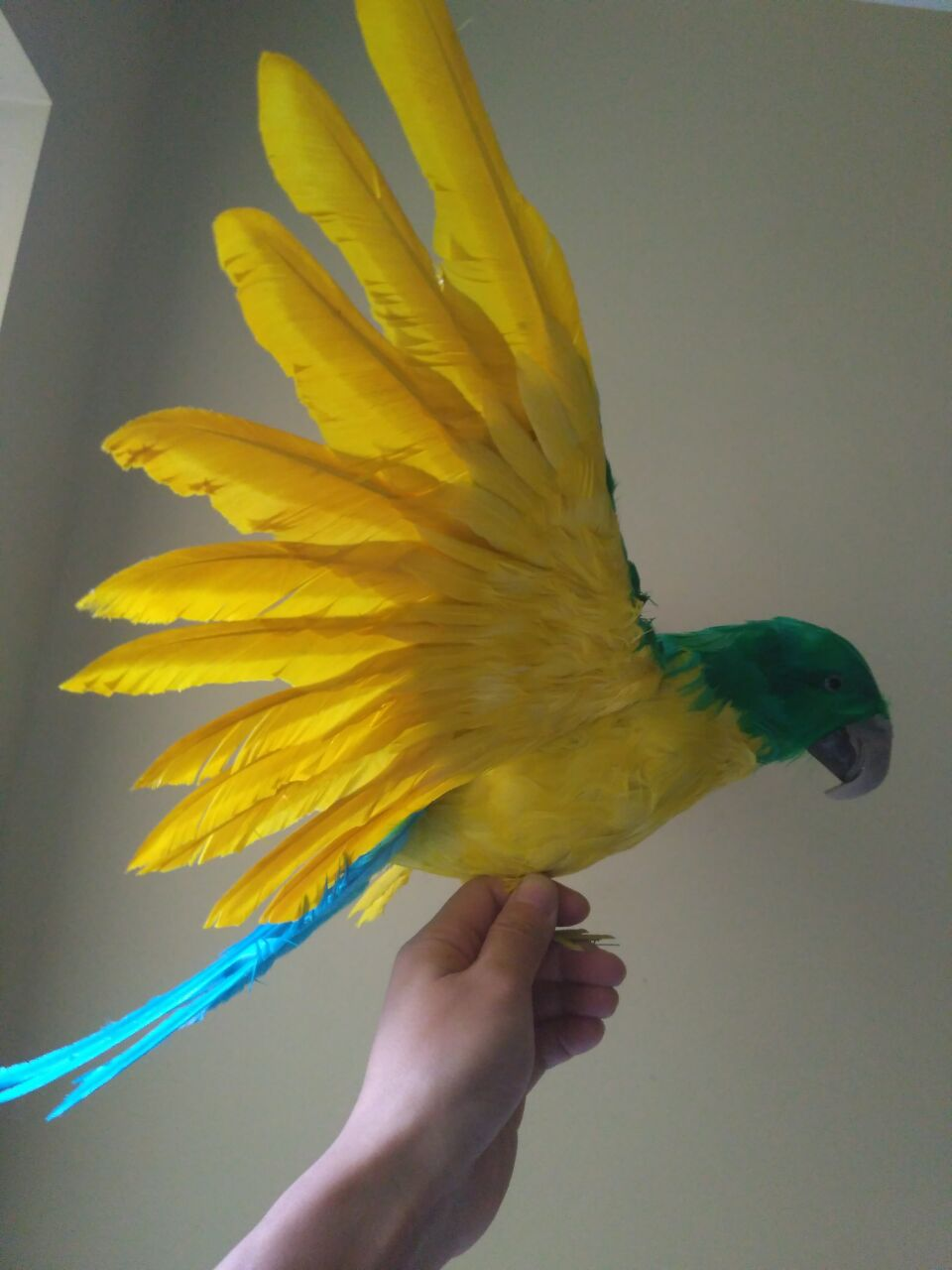big simulation yellow&green&blue parrot toy foam&furs wings bird model gift about 60x40cm 1615 жидкость cloud parrot 2 0 yellow 120мл 0мг