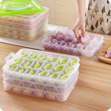 4 layers-5 layers Portable Dumpling storage Box refrigerator Fresh Keeping Container Holder Organizer kitchen accessories(China)