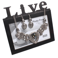Splendid Women s Vintage Rhinestone Choker Chain Necklace Earrings Wedding Jewelry Set 52FX