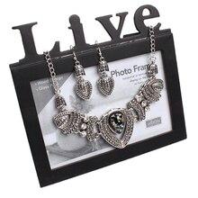 Splendid Women's Vintage Rhinestone Choker Chain Necklace Earrings Wedding Jewelry Set 52FX