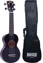 Mahalo MR1BK Укулеле сопрано с чехлом, струны Aquila, цвет черный, серия Rainbow