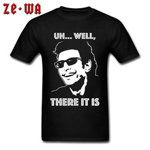 Ian Malcolm Character Features T Shirt  Jurassic Park Chaos Theory Movie Tshirts High Quality Cotton Fashion Clothes Drop Ship