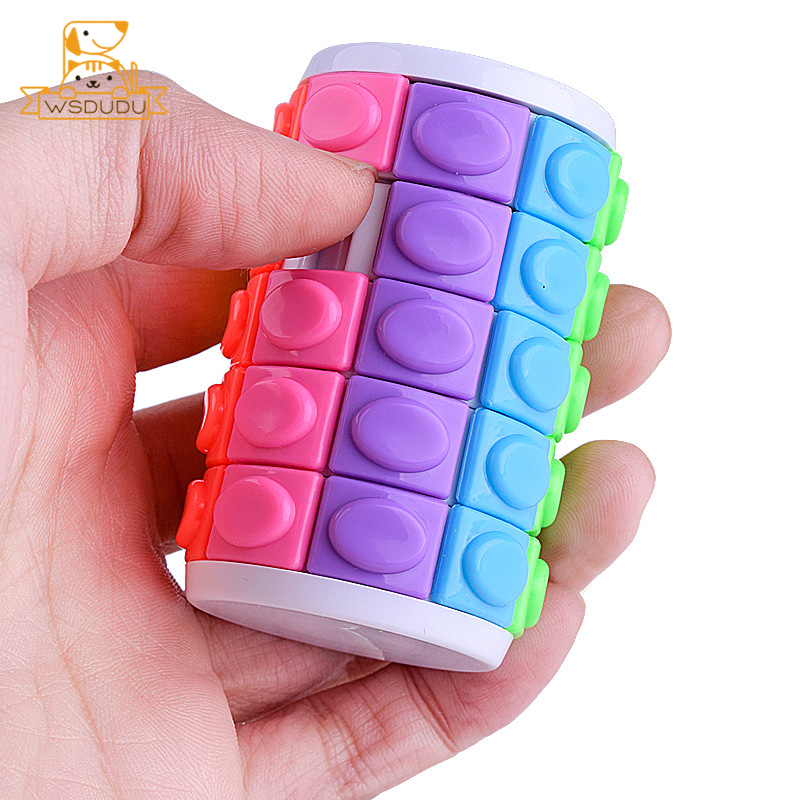 Children Puzzle Colorful Novelty 3D Brain Teaser Game Slide Magic Decompression Anti-Stress Intelligence Plastic Toys Adult Gift