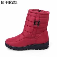 Shoes Woman Boots Flock Warm Plush Women Winter Boots Lace Up Fur Ankle Boots Women