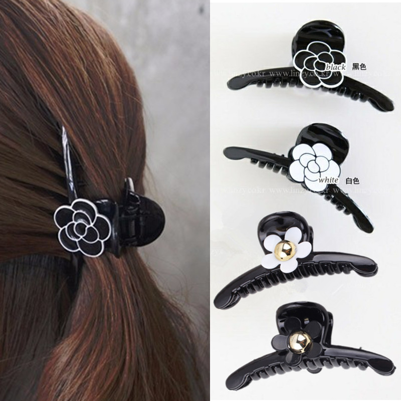 High Quality Flower Acrylic Hair Claw For Women Girl Rose Camellia Hair Clip Jewelry Accessories Holiday Gift halloween party zombie skull skeleton hand bone claw hairpin punk hair clip for women girl hair accessories headwear 1 pcs