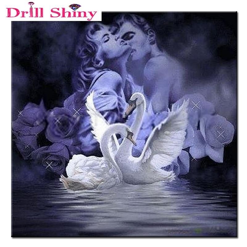 DIY 5D Dashuruesit e Mozaikut të Plotë të Diamantit Puthje të - Arte, zanate dhe qepje