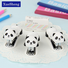 1 PC Cartoon Mini Panda Stapler Set School Office Supplies Stationery Paper Binding Binder Book
