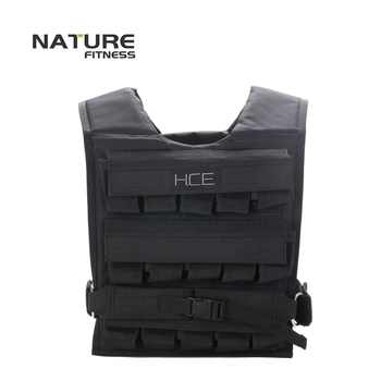 Adjustable Black Color Weight Vest Maximum Can Bear 30KG Exercise Training Vests Training Strength Not Include Weight Plates - SALE ITEM Sports & Entertainment