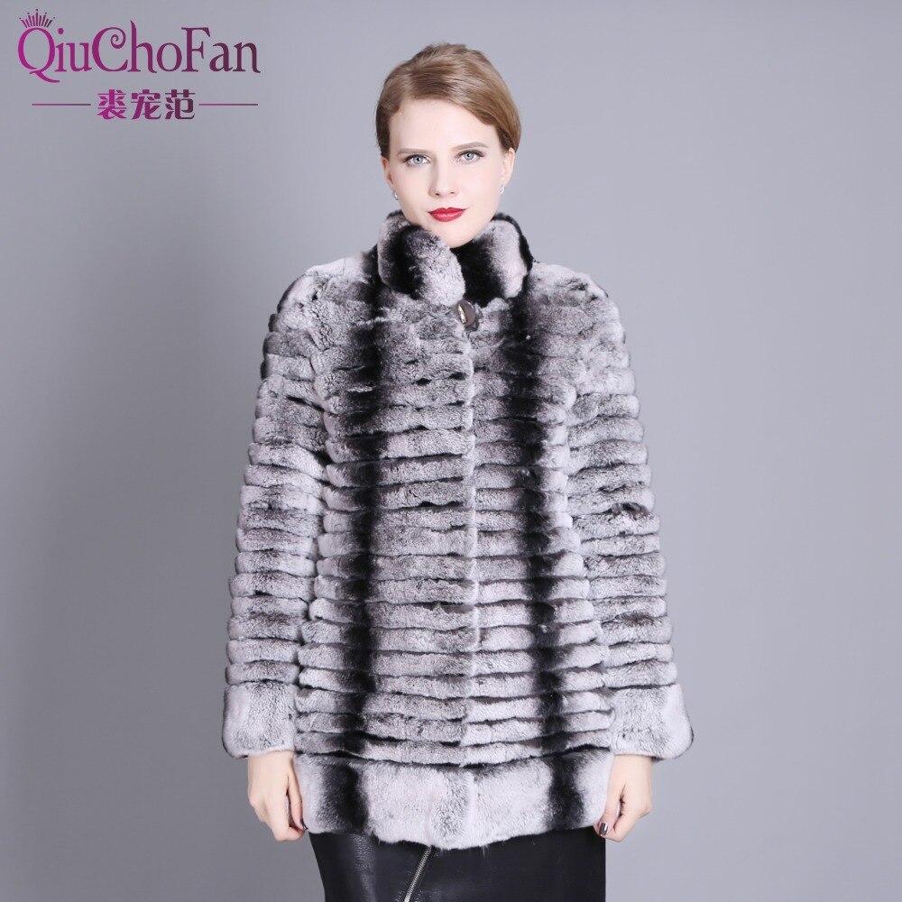 2017 Réel naturel rex lapin manteau de fourrure de haute qualité 100% véritable rex de fourrure de lapin chinchilla couleur d'hiver veste livraison gratuite