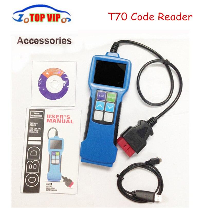 Nouveau lecteur de Code T70 Quicklynks OBD2 lecteur de Code écran couleur compatible 1996 et Scanner fonctionnel pour véhicules automobiles