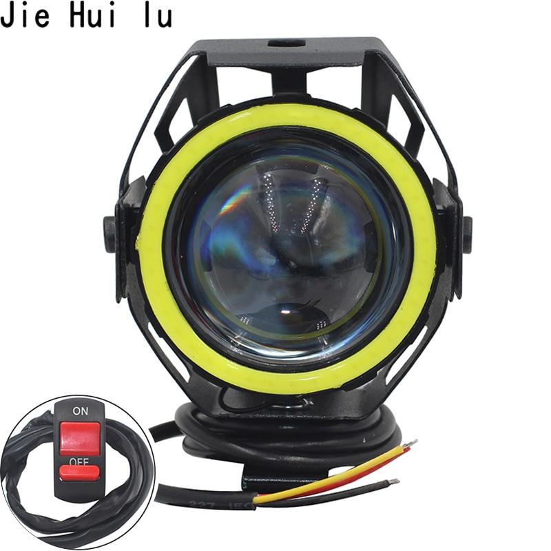 1Pcs / 2PCS 125W Motorcycle Headlight Motorbike Spotlight U7 LED Moto Driving Car Fog Spot Head Light Lamp Free Shipping