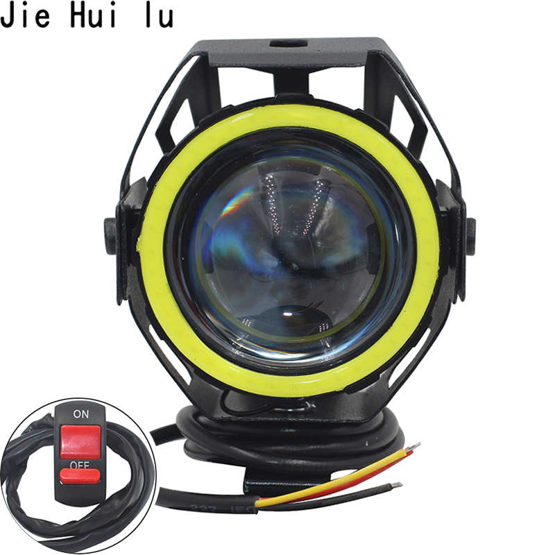 2PCS 125W Motorcycle Headlight Motorbike Spotlight U7 LED Moto Driving Car Fog Spot Head Light Lamp Free Shipping