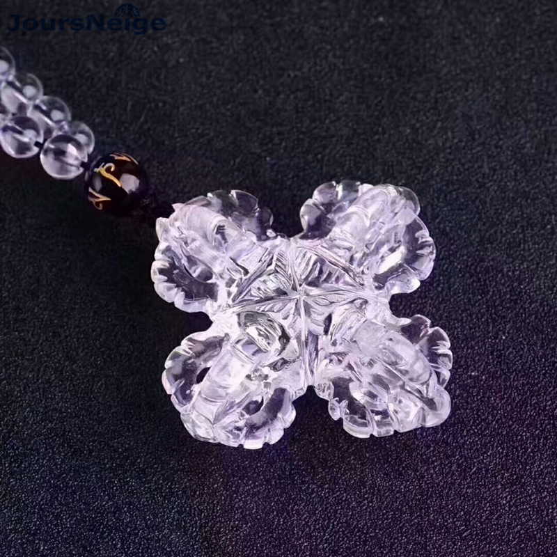 Wholesale JoursNeige White Natural Crystal Pendants Fine Caved Cross Vajra Pendant Necklace Lucky for Women Men Fashion Jewelry delicate coloured faux crystal cross pendant necklace for men