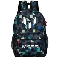 School Bag For Teenager Boys Rucksack Messi Backpack Black Footbal Bag Men Back Pack Travel Gift