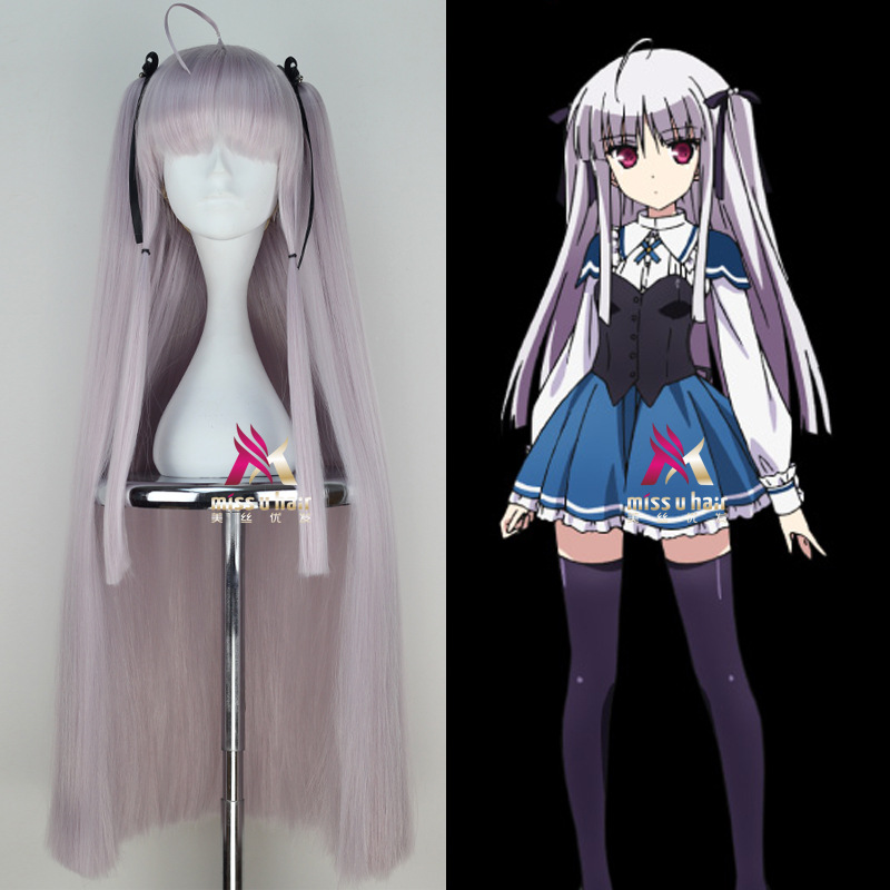 Hot Silver White /Black/Beige 3 Color Julie Sigtuna Absolute Duo Long Synthetic Cosplay Full Wigs Heat Resistance Hair +wig cap