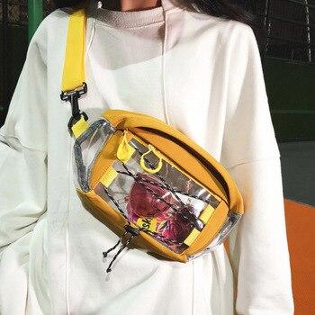 f222aeae2dfe Унисекс нагрудная сумка из текстиля хип-хоп Повседневное поясная сумка  Уличная модная поясная сумка нейтральная сумка Мода поясная сумка и.