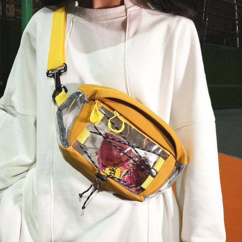 Unisex  Canvas Chest Bag Hip Hop Casual Fanny Pack Street Fashion  Waist Pack Neutral Shoulder Bag Fashion PVC Waist Bag 030413