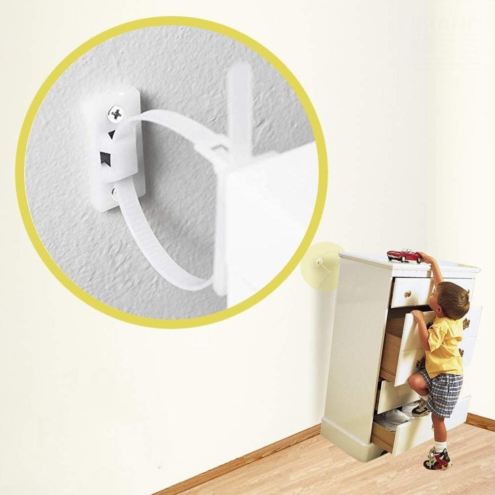 Furniture Anti Tip Strap Baby Proof Cabinet Wall Anchors Elastic Ropes Strap Children Pet Protection Home Hardware