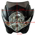 12V CB500 CBR600  Fairing Kawasaki Modified streetfighter motorcycle headlights Black