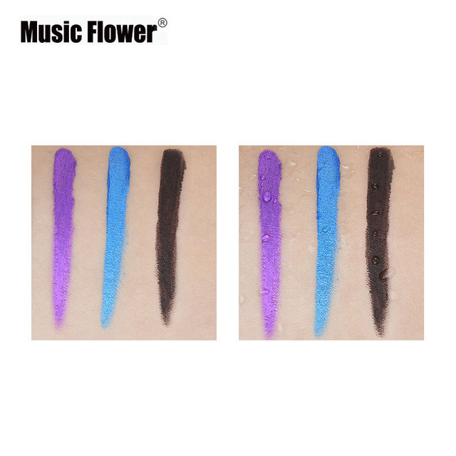 New Brand Music Flower Black Waterproof Eyeliner Gel Makeup Cosmetic Gel Eye Liner With Brush 24 Hours Long-lasting For Women 5