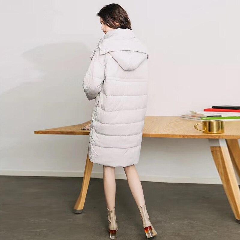 D'hiver Chaud Fait D'oie Coréen Ao643 Le Bas Capuchon Vers 2018 Pour Épais Veste Manteau Les Style À De Duvet Casual Beige Femmes yvw08nmNO