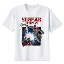 BTFCL Stranger Things T Shirt 2019 Anime Tshirt Men Summer Cool Tees Unisex Loose Plus Size Camiseta Masculina