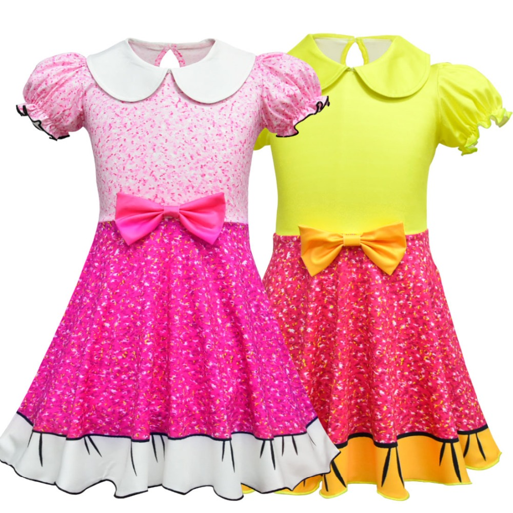 Halloween Cosplay Show Lolita Surprise Girls Dresses 2018 Summer Dress For Kids Costume Cute Dolls Princess Birthday Party Dress girls catwoman cosplay for kids christmas party performance halloween costume cute kids girls cat kitty princess dress with hair