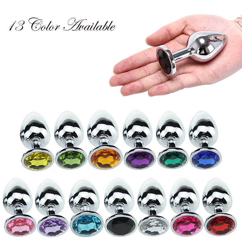 Metal Anal Plug Small With Crystal Jewelry <font><b>Sex</b></font> <font><b>Machine</b></font> Smooth Steel Butt Plug <font><b>Sex</b></font> <font><b>Toys</b></font> For Men And Women <font><b>Gay</b></font> Anal Tail <font><b>Sex</b></font> Shop image