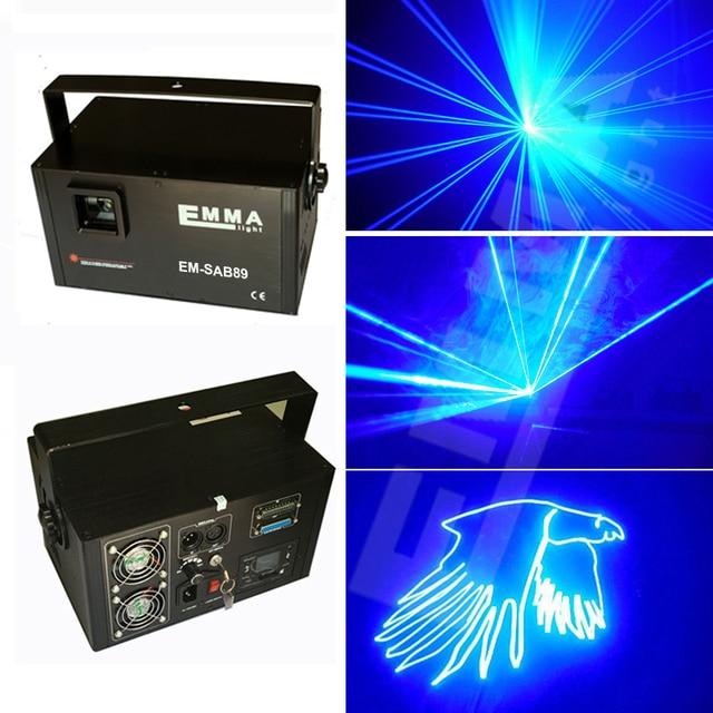 Enkele kleur animatie sd kaart 4 gb 2 watt laserlicht blauw led ...
