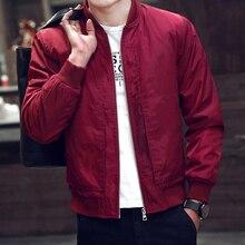 2017 Autumn New Fashion Bomber Jacket Men Casual Slim Jacket Men's Overcoat Windbreaker Jaqueta Masculina