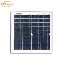 Renepv 15W  monocrystalline silicon cells solar module 18V output for 12v battery power charging solar panel RD15TU-18MD