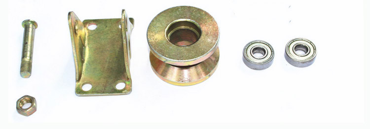 Factory outlets,1.2 inch Cast steel track wheel/pulley,Wire rope bearings/sliding door/Sheave Lifting pulley,Industrial Hardware